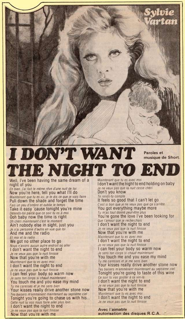 Discographie N° 73 I DON'T WANT THE NIGHT TO END - Page 4 Img27210