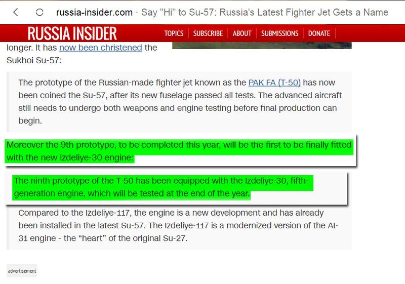 مقاتله Sukhoi T-50 PAK FA سيتغير اسمها الى Su-57  333310
