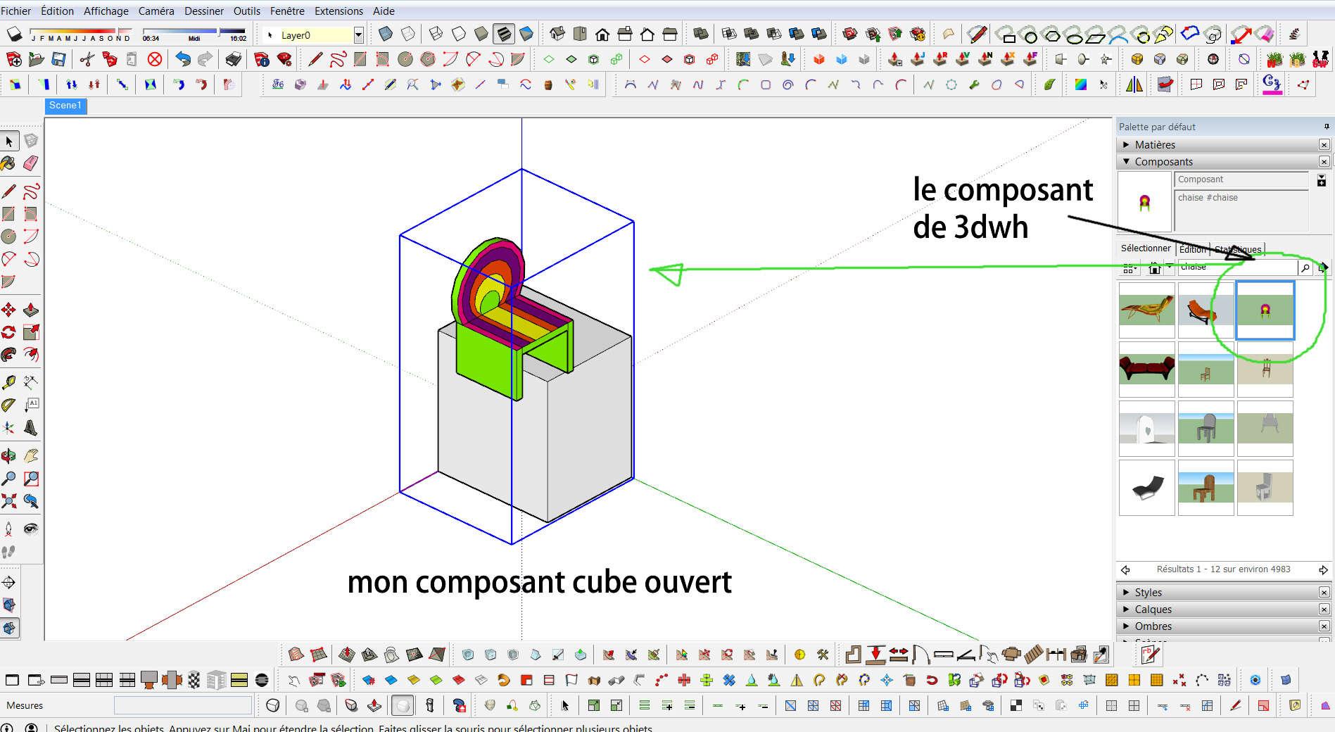 [SKETCHUP] Question concernant l'import de composants (résolu) 3dwh10