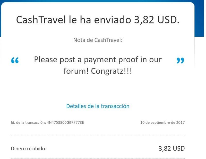 [PAGANDO] CASHTRAVEL - cashtravel.info - Refback 80% - Mínimo 0.05$ - Rec. pago 11 - Página 2 Pago_213