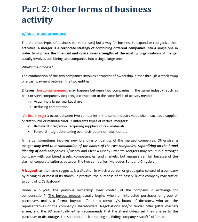 PART.02 : Other forms of business activity Sans_t31