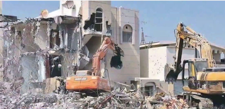 Saudi regime forces demolish Shia mosque in Awamiyah M10