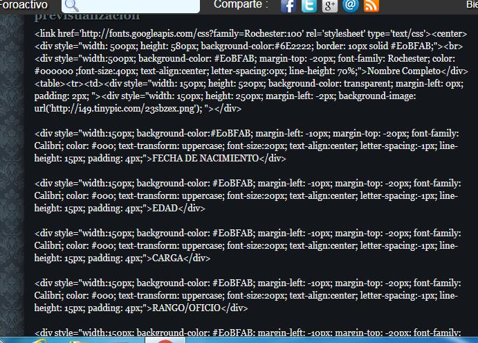 Como poner un codigo html para fichas? 00000110
