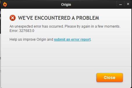 ZLOrigin Error 327683.0 - fix. Zlorig10