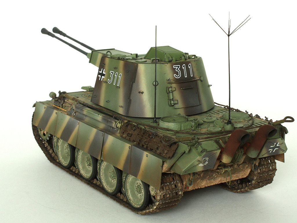 5,5 cm Zwilling Flakpanzer mit Panther Fahrgestell (Rheinmetall turm) (конверсия Dragon+Trumpeter 1/35) A_1111