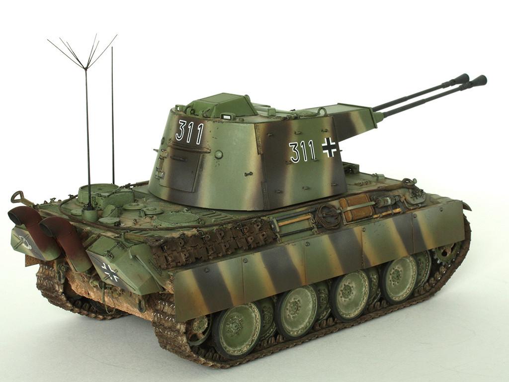 5,5 cm Zwilling Flakpanzer mit Panther Fahrgestell (Rheinmetall turm) (конверсия Dragon+Trumpeter 1/35) A_1211