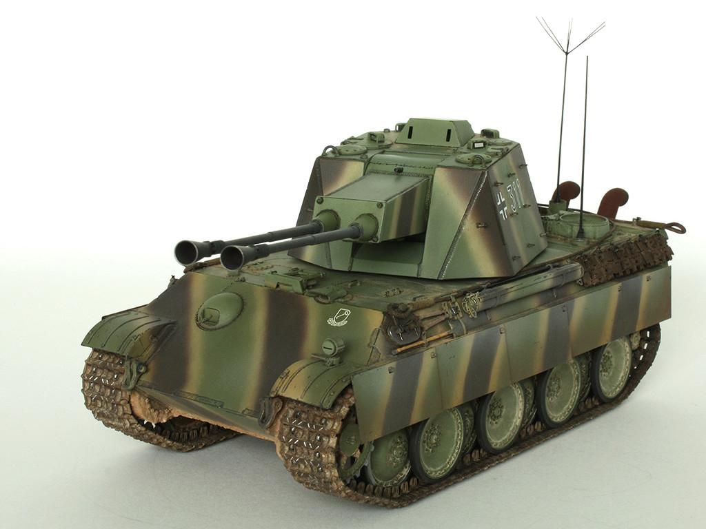 5,5 cm Zwilling Flakpanzer mit Panther Fahrgestell (Rheinmetall turm) (конверсия Dragon+Trumpeter 1/35) A_311