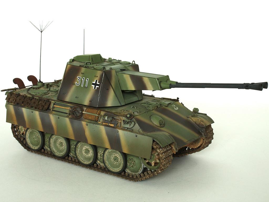 5,5 cm Zwilling Flakpanzer mit Panther Fahrgestell (Rheinmetall turm) (конверсия Dragon+Trumpeter 1/35) A_511