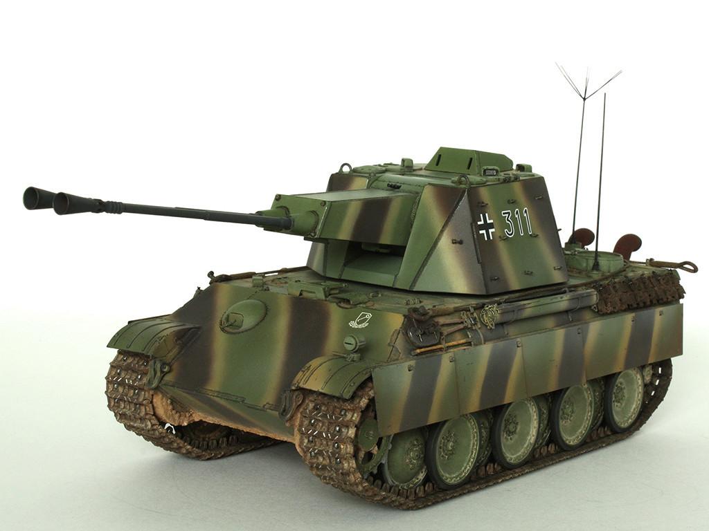 5,5 cm Zwilling Flakpanzer mit Panther Fahrgestell (Rheinmetall turm) (конверсия Dragon+Trumpeter 1/35) A_911
