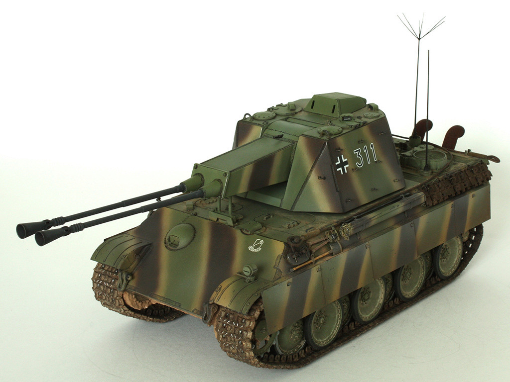 5,5 cm Zwilling Flakpanzer mit Panther Fahrgestell (Rheinmetall turm) (конверсия Dragon+Trumpeter 1/35) B_1111