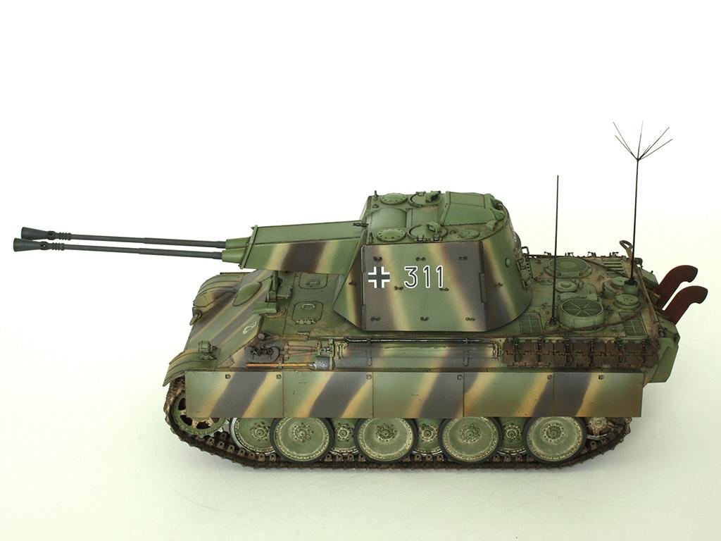 5,5 cm Zwilling Flakpanzer mit Panther Fahrgestell (Rheinmetall turm) (конверсия Dragon+Trumpeter 1/35) B_1211
