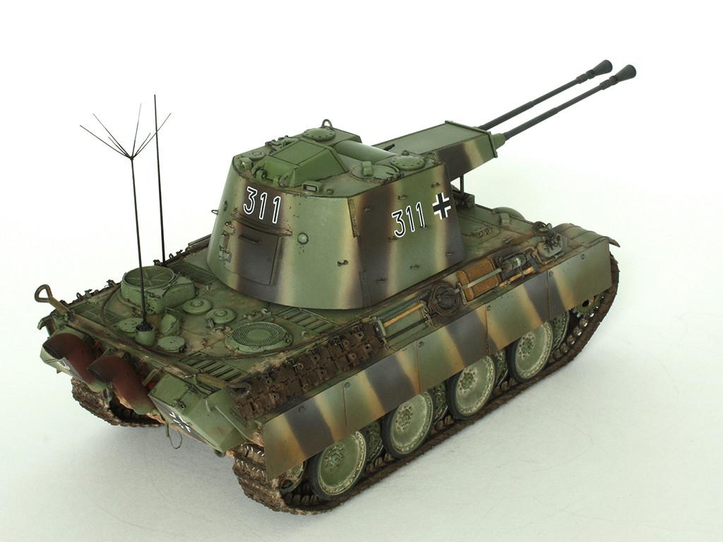 5,5 cm Zwilling Flakpanzer mit Panther Fahrgestell (Rheinmetall turm) (конверсия Dragon+Trumpeter 1/35) B_1311