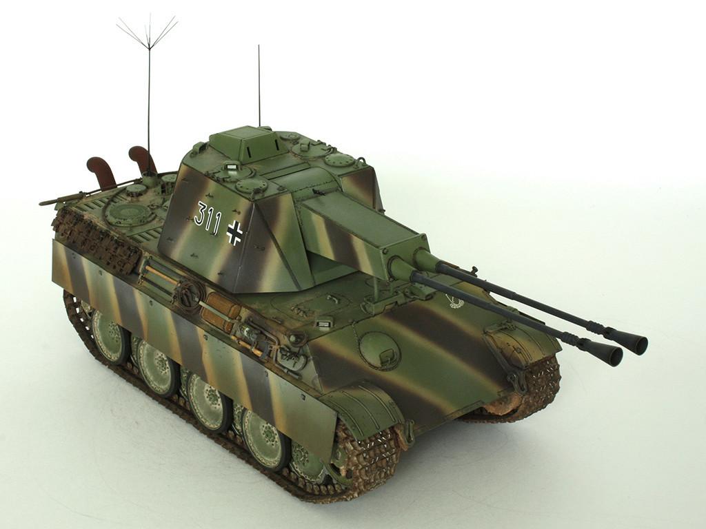 5,5 cm Zwilling Flakpanzer mit Panther Fahrgestell (Rheinmetall turm) (конверсия Dragon+Trumpeter 1/35) B_1411