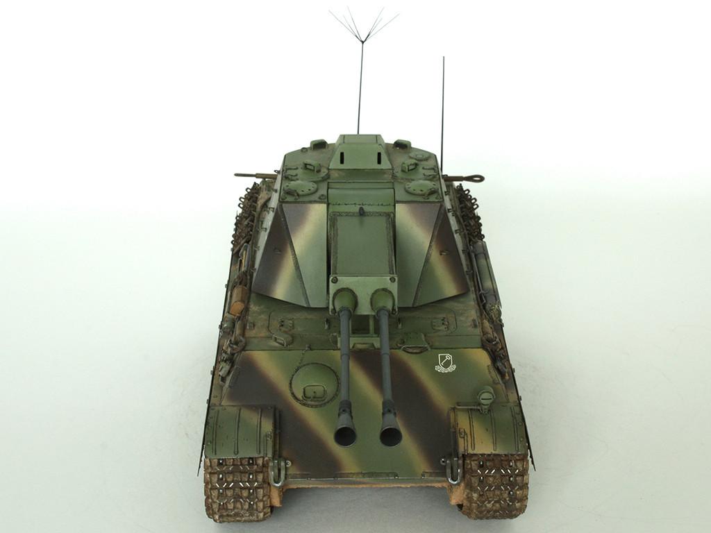 5,5 cm Zwilling Flakpanzer mit Panther Fahrgestell (Rheinmetall turm) (конверсия Dragon+Trumpeter 1/35) B_311