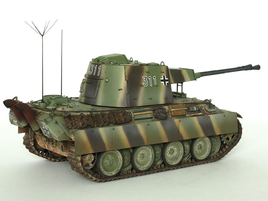 5,5 cm Zwilling Flakpanzer mit Panther Fahrgestell (Rheinmetall turm) (конверсия Dragon+Trumpeter 1/35) B_811