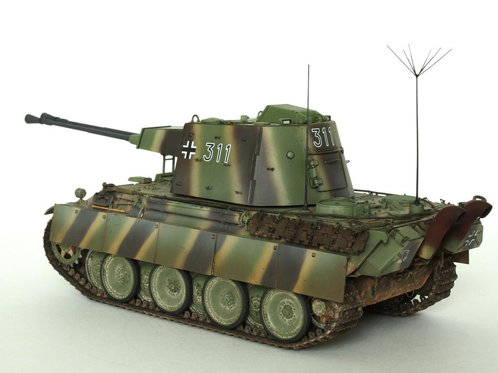 5,5 cm Zwilling Flakpanzer mit Panther Fahrgestell (Rheinmetall turm) (конверсия Dragon+Trumpeter 1/35) B_911