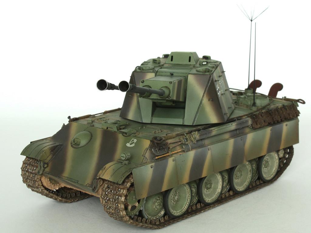 5,5 cm Zwilling Flakpanzer mit Panther Fahrgestell (Rheinmetall turm) (конверсия Dragon+Trumpeter 1/35) C_311