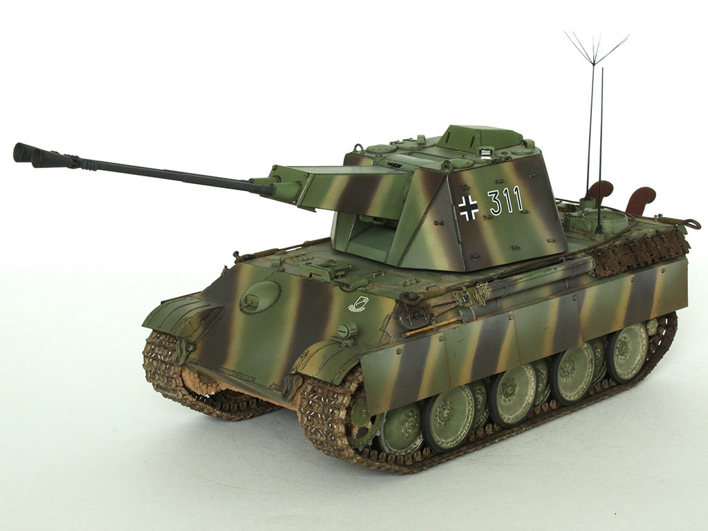 5,5 cm Zwilling Flakpanzer mit Panther Fahrgestell (Rheinmetall turm) (конверсия Dragon+Trumpeter 1/35) C_411
