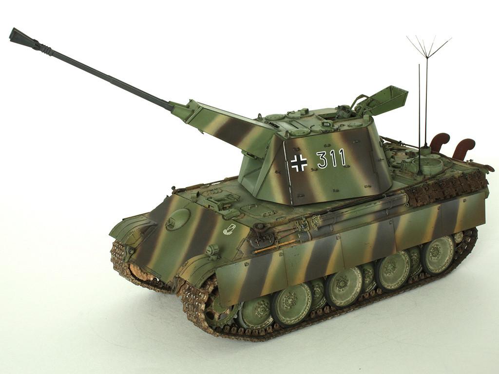5,5 cm Zwilling Flakpanzer mit Panther Fahrgestell (Rheinmetall turm) (конверсия Dragon+Trumpeter 1/35) D_1011