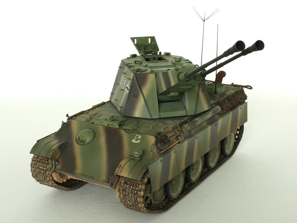 5,5 cm Zwilling Flakpanzer mit Panther Fahrgestell (Rheinmetall turm) (конверсия Dragon+Trumpeter 1/35) D_111