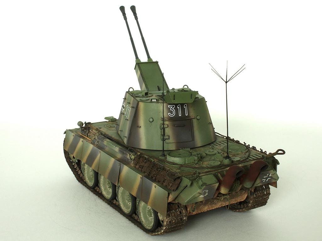 5,5 cm Zwilling Flakpanzer mit Panther Fahrgestell (Rheinmetall turm) (конверсия Dragon+Trumpeter 1/35) D_1111