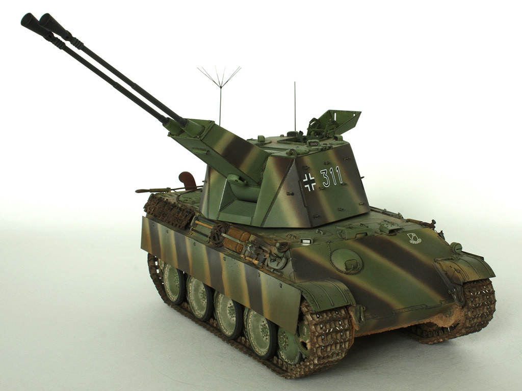 5,5 cm Zwilling Flakpanzer mit Panther Fahrgestell (Rheinmetall turm) (конверсия Dragon+Trumpeter 1/35) D_1311