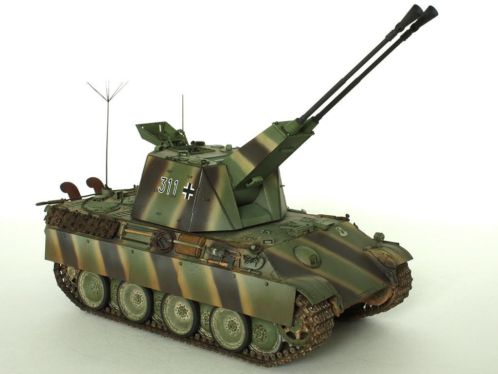 5,5 cm Zwilling Flakpanzer mit Panther Fahrgestell (Rheinmetall turm) (конверсия Dragon+Trumpeter 1/35) D_1411