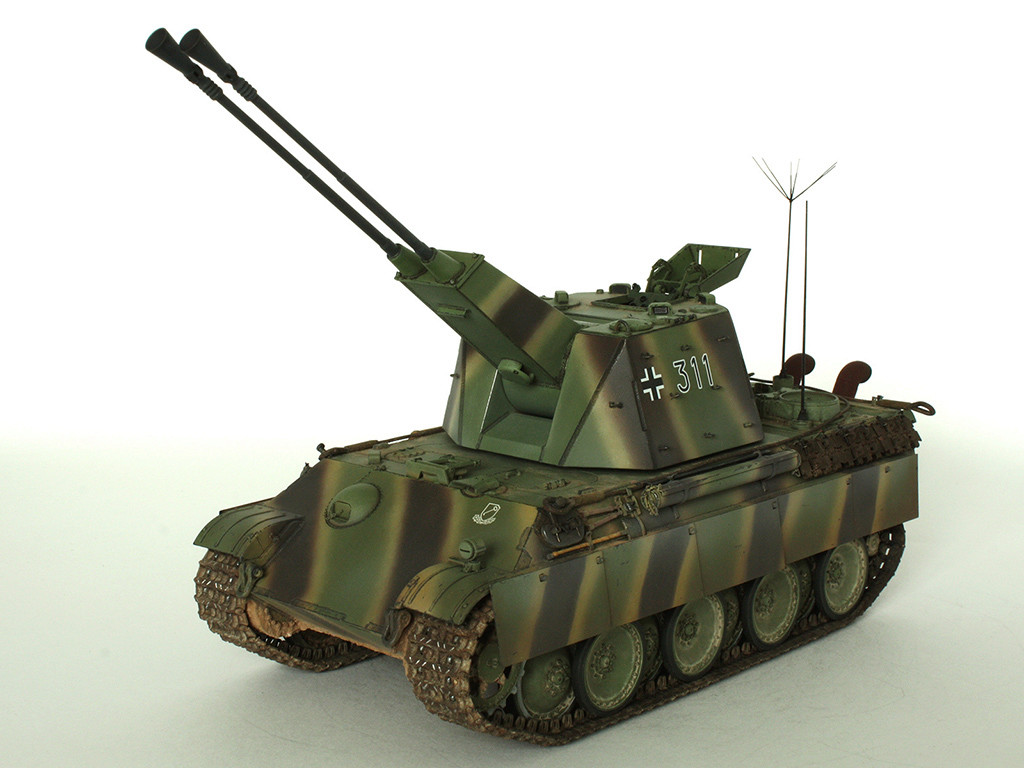5,5 cm Zwilling Flakpanzer mit Panther Fahrgestell (Rheinmetall turm) (конверсия Dragon+Trumpeter 1/35) D_1511
