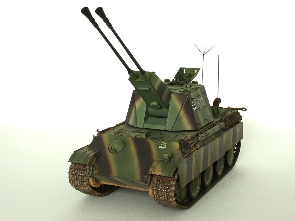 5,5 cm Zwilling Flakpanzer mit Panther Fahrgestell (Rheinmetall turm) (конверсия Dragon+Trumpeter 1/35) D_1611