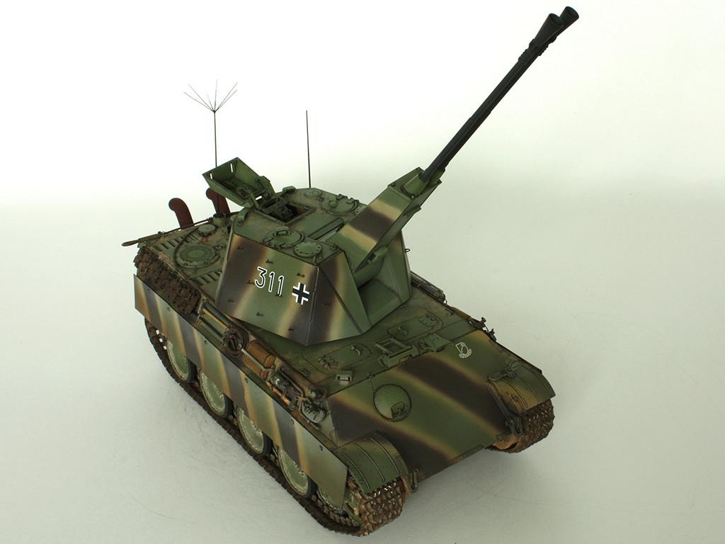 5,5 cm Zwilling Flakpanzer mit Panther Fahrgestell (Rheinmetall turm) (конверсия Dragon+Trumpeter 1/35) D_411