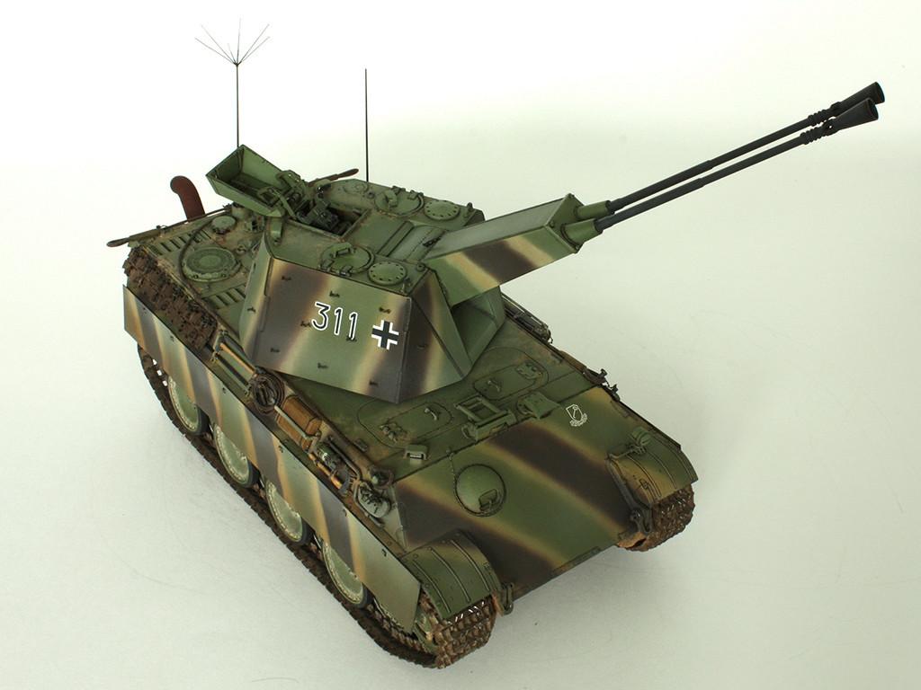 5,5 cm Zwilling Flakpanzer mit Panther Fahrgestell (Rheinmetall turm) (конверсия Dragon+Trumpeter 1/35) D_511
