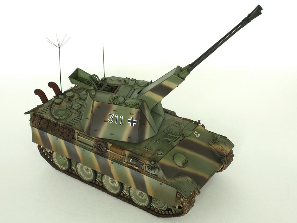 5,5 cm Zwilling Flakpanzer mit Panther Fahrgestell (Rheinmetall turm) (конверсия Dragon+Trumpeter 1/35) D_611