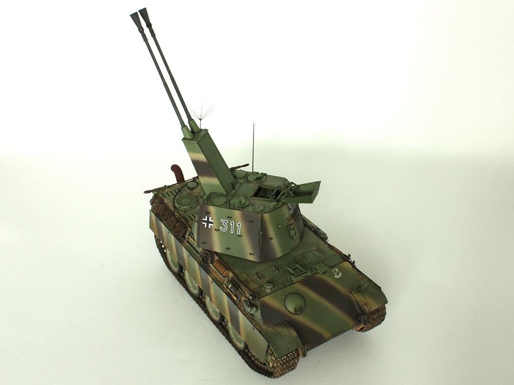 5,5 cm Zwilling Flakpanzer mit Panther Fahrgestell (Rheinmetall turm) (конверсия Dragon+Trumpeter 1/35) D_811