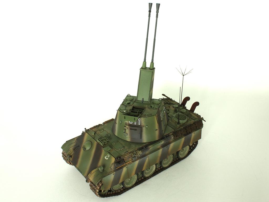 5,5 cm Zwilling Flakpanzer mit Panther Fahrgestell (Rheinmetall turm) (конверсия Dragon+Trumpeter 1/35) D_911