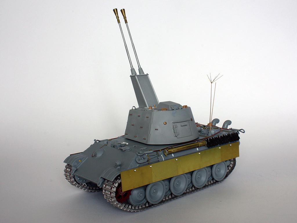 5,5 cm Zwilling Flakpanzer mit Panther Fahrgestell (Rheinmetall turm) (конверсия Dragon+Trumpeter 1/35) I1011