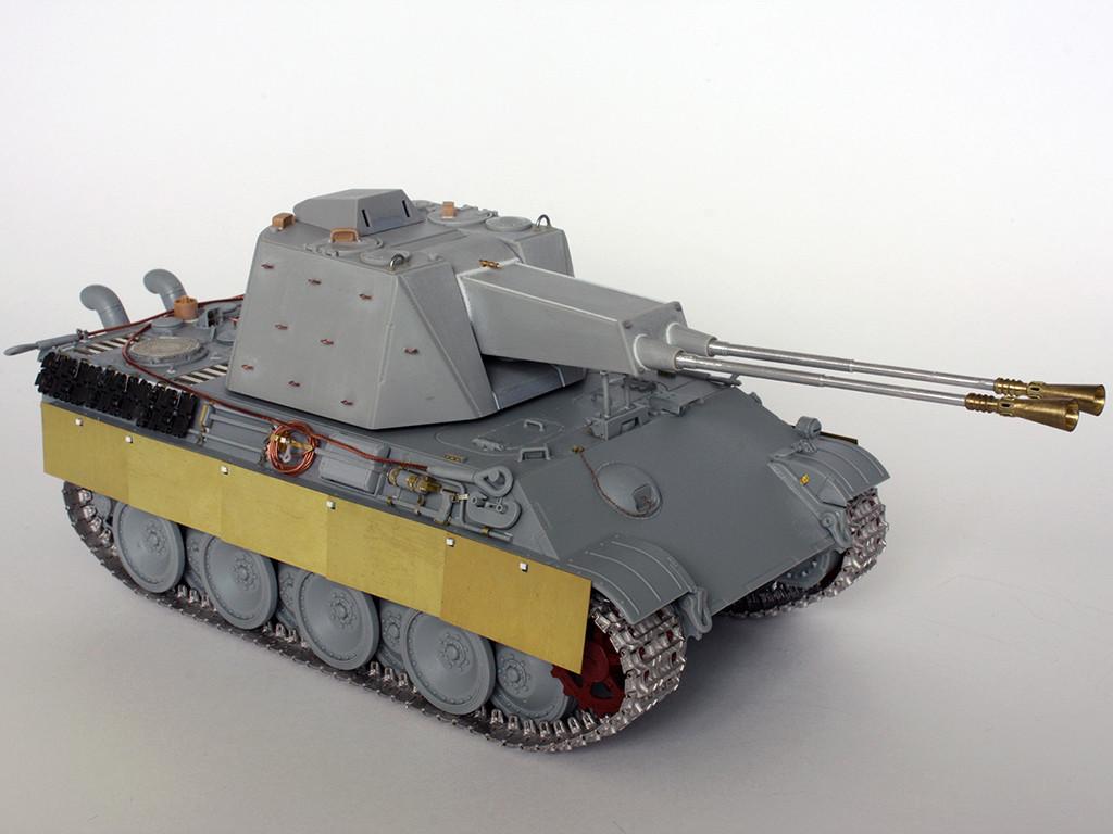5,5 cm Zwilling Flakpanzer mit Panther Fahrgestell (Rheinmetall turm) (конверсия Dragon+Trumpeter 1/35) I111