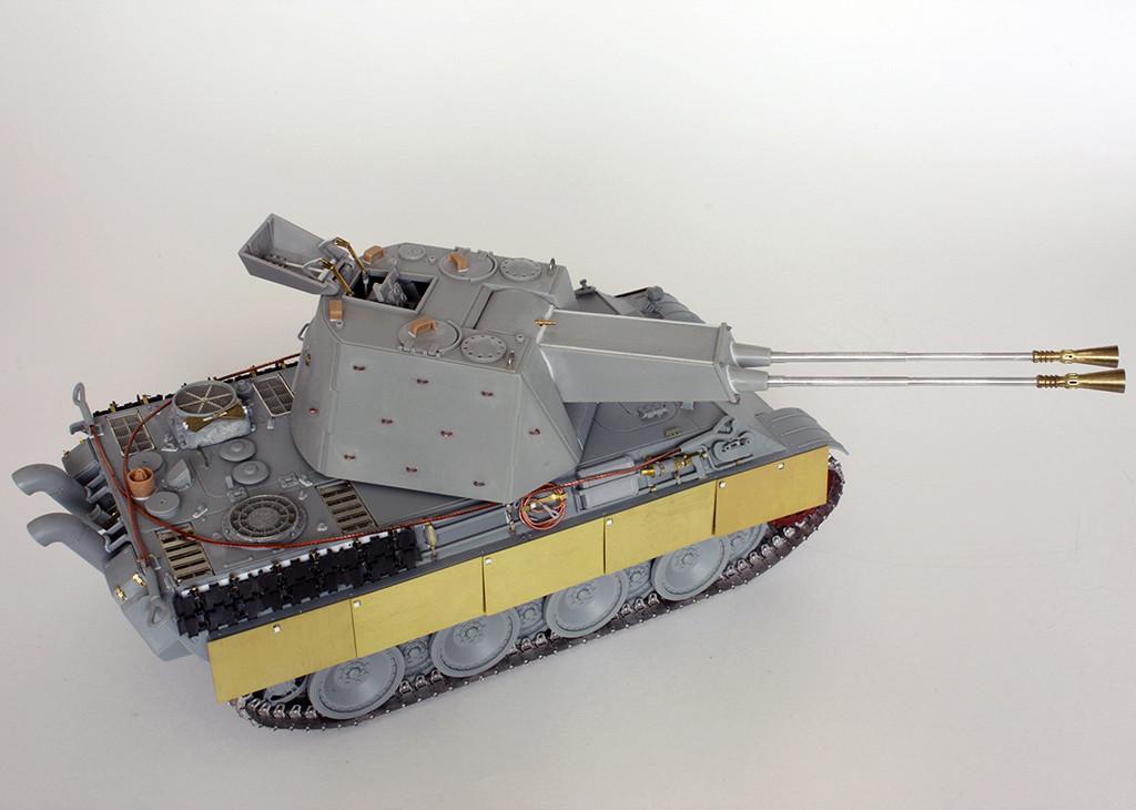 5,5 cm Zwilling Flakpanzer mit Panther Fahrgestell (Rheinmetall turm) (конверсия Dragon+Trumpeter 1/35) I1311