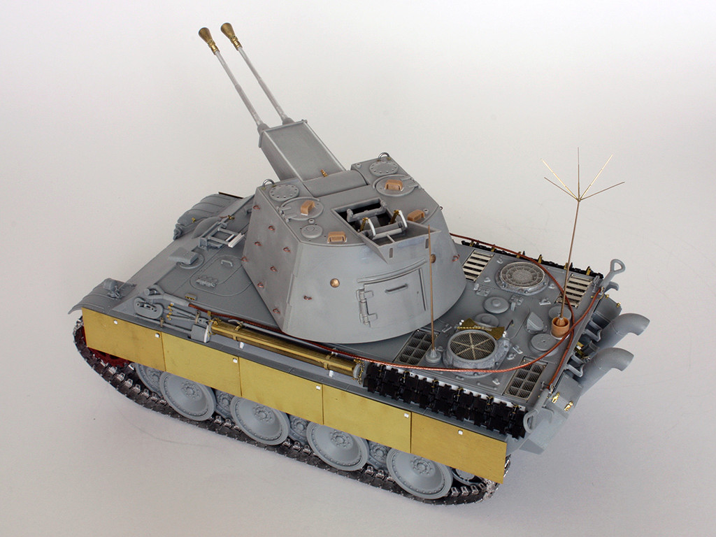 5,5 cm Zwilling Flakpanzer mit Panther Fahrgestell (Rheinmetall turm) (конверсия Dragon+Trumpeter 1/35) I1411