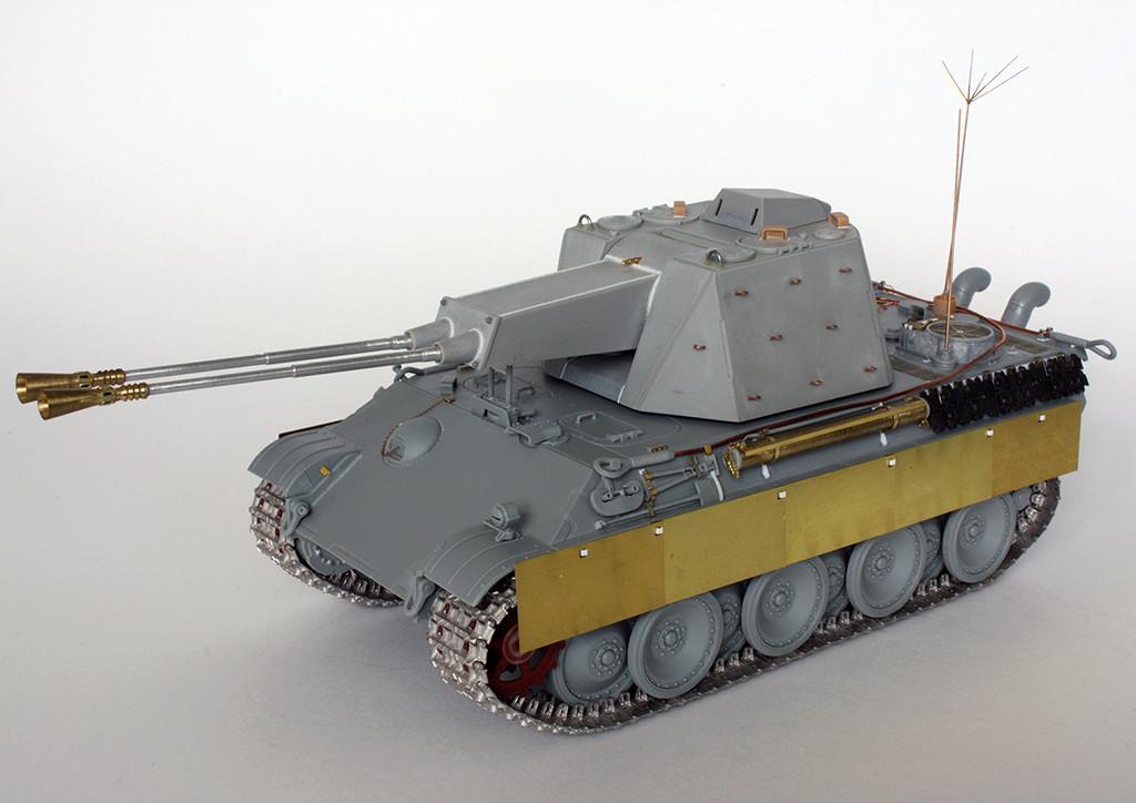 5,5 cm Zwilling Flakpanzer mit Panther Fahrgestell (Rheinmetall turm) (конверсия Dragon+Trumpeter 1/35) I211