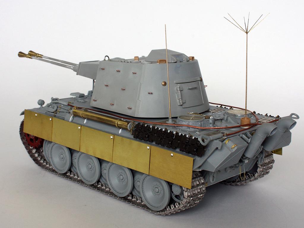 5,5 cm Zwilling Flakpanzer mit Panther Fahrgestell (Rheinmetall turm) (конверсия Dragon+Trumpeter 1/35) I311