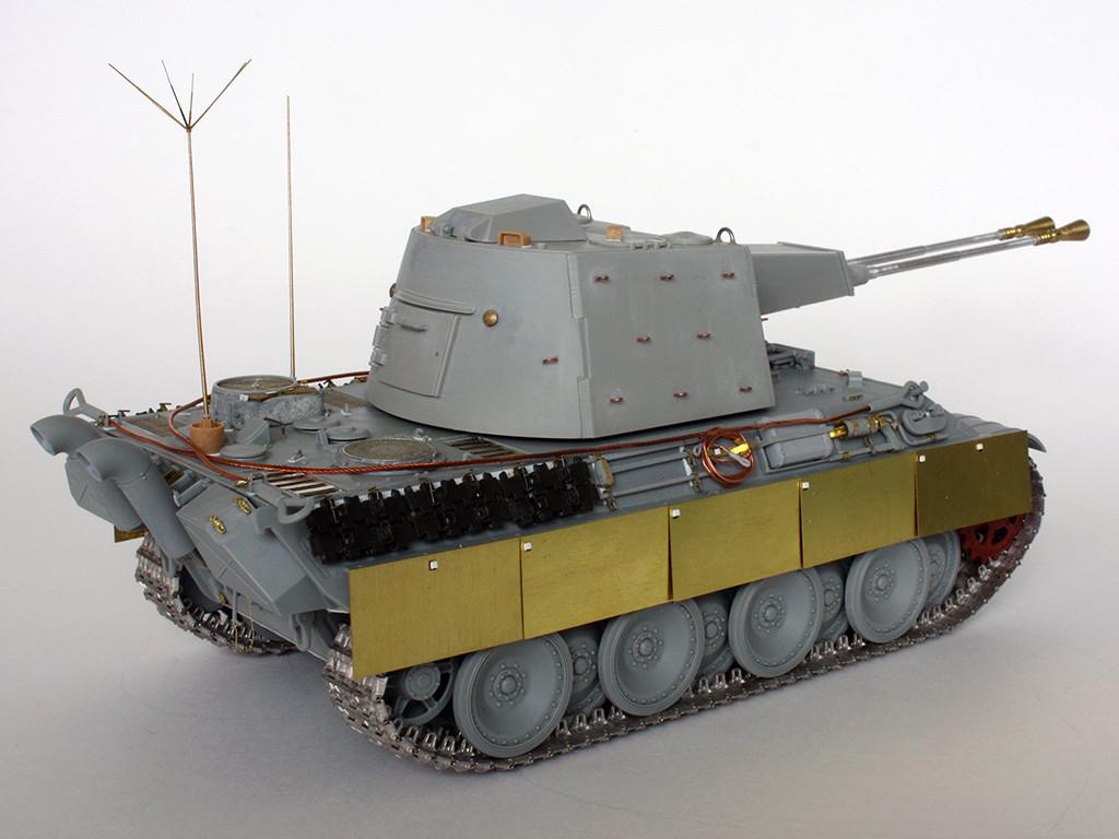5,5 cm Zwilling Flakpanzer mit Panther Fahrgestell (Rheinmetall turm) (конверсия Dragon+Trumpeter 1/35) I411