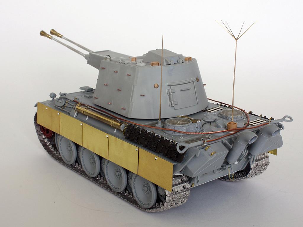 5,5 cm Zwilling Flakpanzer mit Panther Fahrgestell (Rheinmetall turm) (конверсия Dragon+Trumpeter 1/35) I511