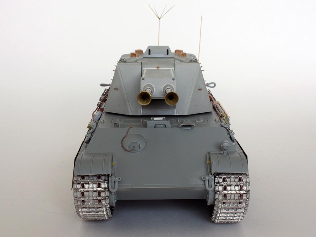 5,5 cm Zwilling Flakpanzer mit Panther Fahrgestell (Rheinmetall turm) (конверсия Dragon+Trumpeter 1/35) I711