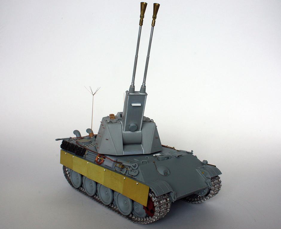 5,5 cm Zwilling Flakpanzer mit Panther Fahrgestell (Rheinmetall turm) (конверсия Dragon+Trumpeter 1/35) I911