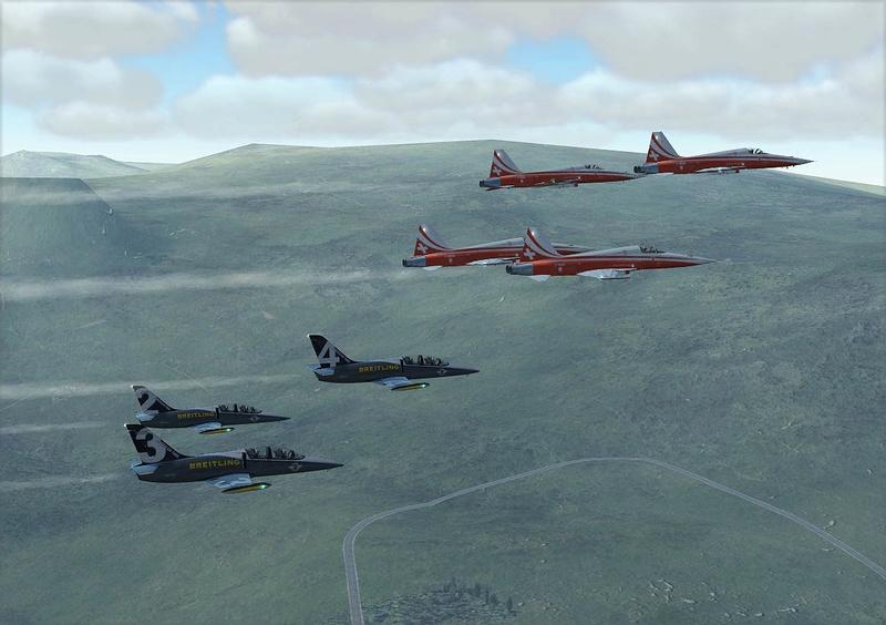 Vol avec la Patrouille suisse F5-l3910