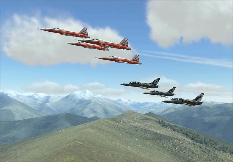 Vol avec la Patrouille suisse F5-l3912