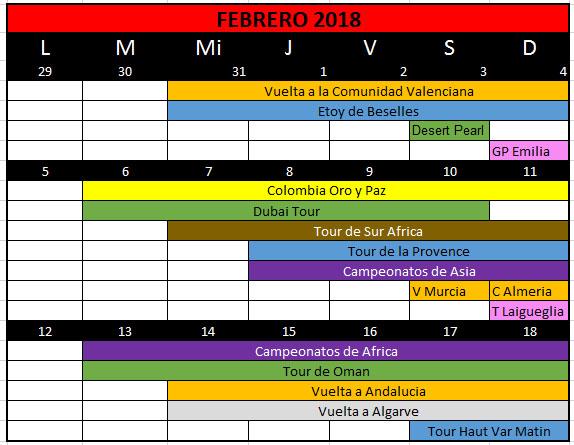 Colombia Oro y Paz 2018 Calend10