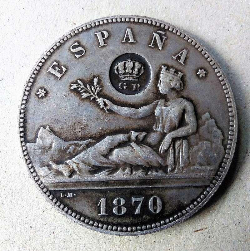 Moneda 5 pesetas 1870 Resell10