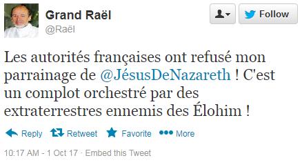 Raël, grand prophète des Élohim Twitte10