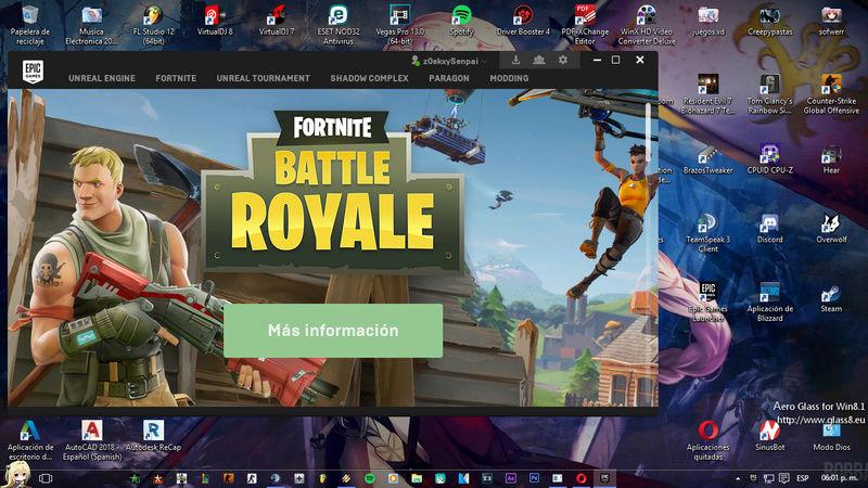 El modo Battle Royale de Fortnite será free to play a partir del 26/9 Sin_ty11